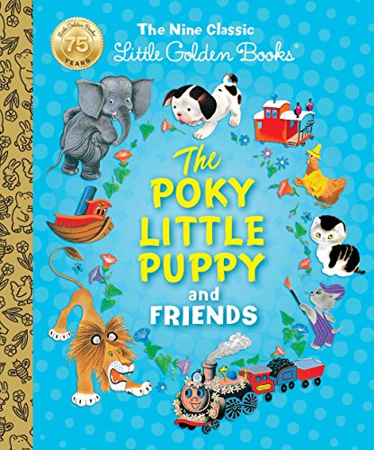 The Poky Little Puppy and Friends: The Nine Classic Little Golden - Children Brown Little Books