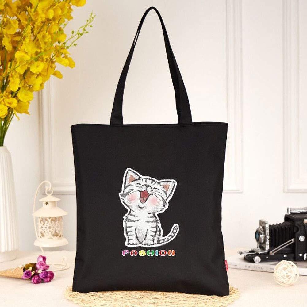 Portable Book Bag Casual Tote Bag for Ladies Heicat Womens Canvas Shoulder Hand Bag Tote Bag