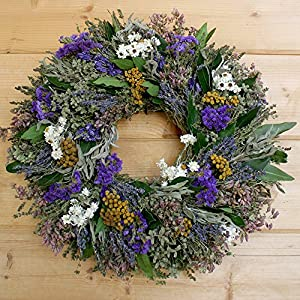 "Garden Herbs Natural Dried and Preserved Wreath - 18"" 14"