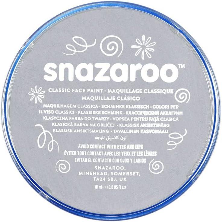 Snazaroo, Light Grey 1118122 Classic Face Paint, 18ml, Medium