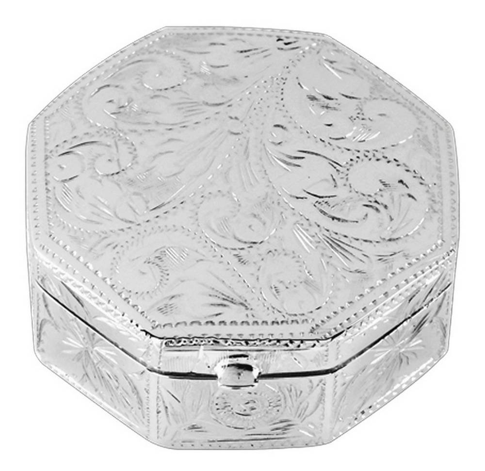 Silver Engraved Pill Box by Orton West