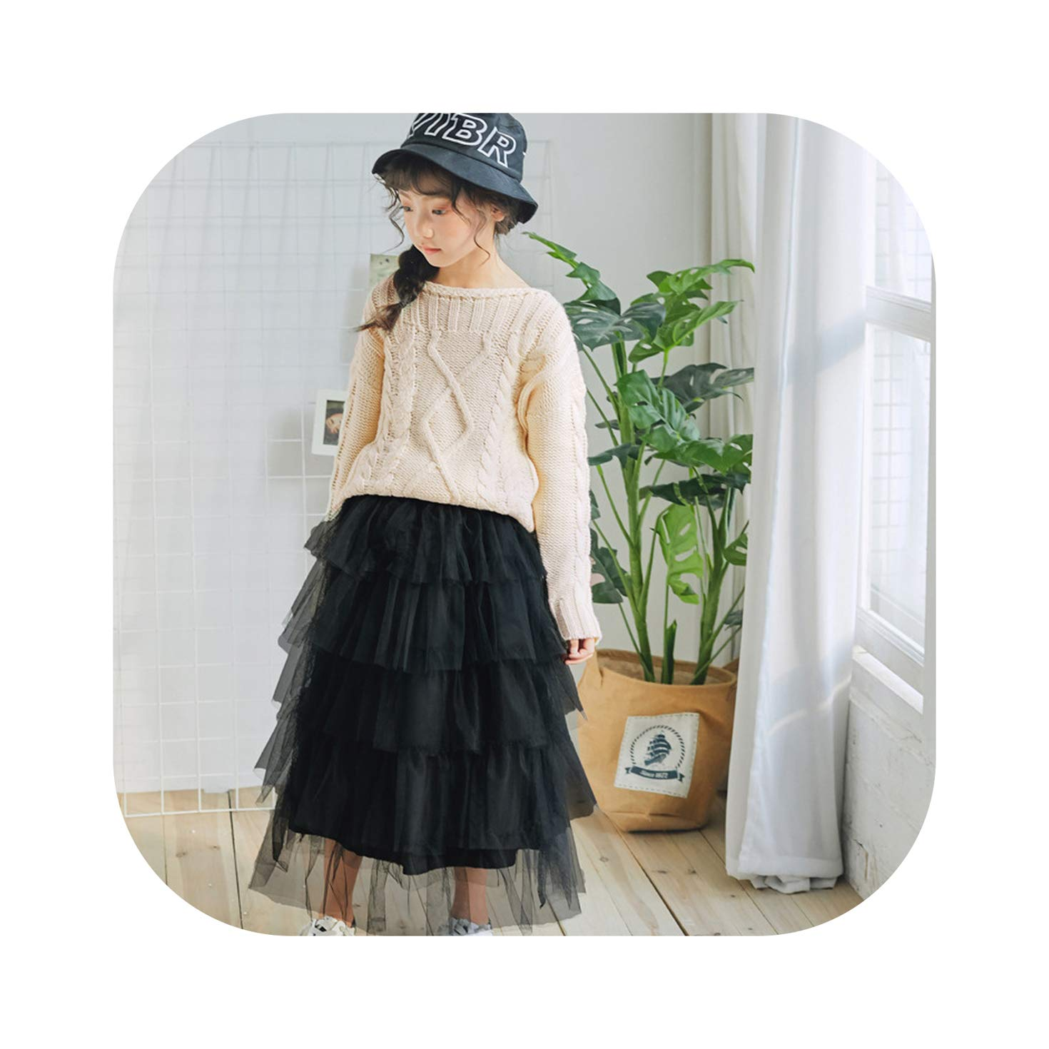 Girls Long Skirt Baby Tulle Ball Gown Kids Beautiful Skirts Fashion Child Party Casual Long Skirts in Spring Autumn Size 2-13T,Long Skirt White,9