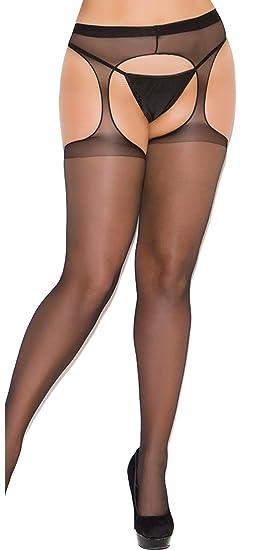 5ebc055f9f8 Amazon.com  Women s Fishnet Suspender Pantyhose  Clothing