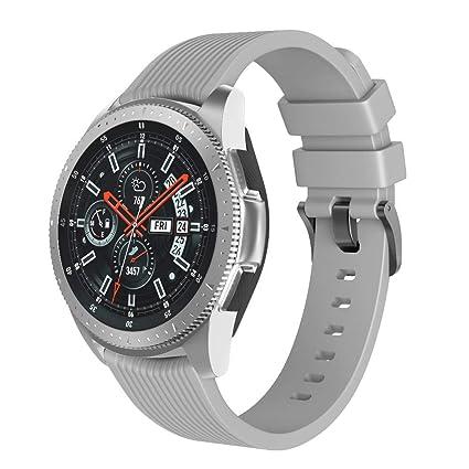 Pulsera para Reloj Samsung Galaxy, 46 mm, de Silicona, para Hombre y Mujer