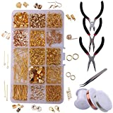 Sdootjewelry Jewelry Findings Set Jewelry Making Supplies Kit Jewelry Beading Making and Repair Tools Kit Pliers Beads Wire Starter Tool