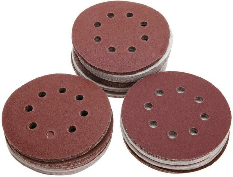 100pcs 125mm Mix Grit Sander Discs Polishing Paper Pads Abrasive Sandpaper Set for General Polishing Requirements,As Shows As Shows