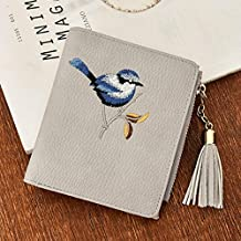 Sinwo Gift!! Women Cute Embroidery Bird Tassel Clutches Wallet Handbag Cardbag Tote Purse