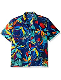 Men's Hawaiian Shirt Printing Short Sleeved Aloha Shirts