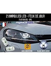 Pack luz de día LED Blanco Xenon para cochecon faros Bi-Xénon