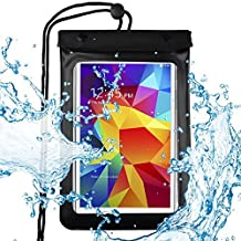 eBuymore 7 -8'' Tablets Waterproof Pouch Bag Case for Samsung SM-T377 8 / Galaxy Tab A Plus 8.0 S Pen / Nvidia Shield Tablet 2 / HTC H7 Tablet (Black)