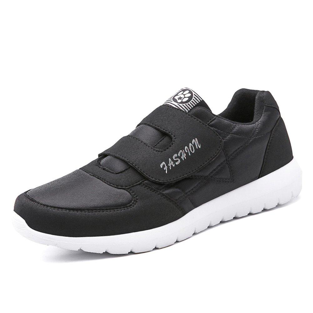 Fires Men's Casual Sneakers Lightweight Athletic Elderly Slip On Walking Shoes 10 M US|Black-1