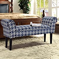 Upholstered Bedroom Entryway Armed Bench - By Choice Products (Multi)