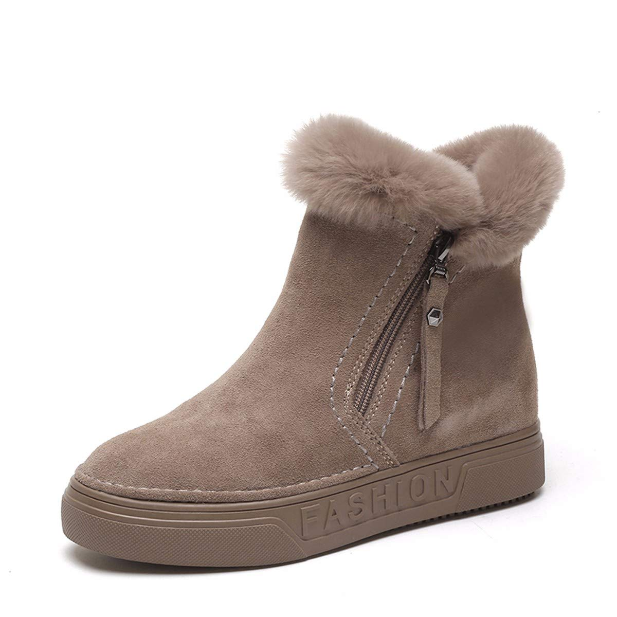 KPHY Damenschuhe/Winterschuhe Gepolsterte Warm Kurze Stiefeln Baumwolle Stiefel Schleudern Wild Martin Stiefel.