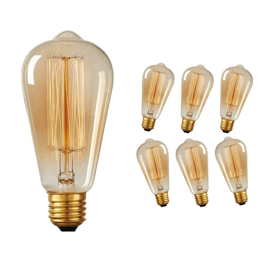 E27 Filament Vintage Antik Industrie Edison Glühbirnen Dimmbar 60W Praktisch .