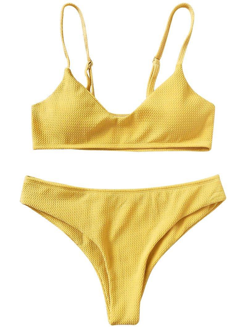 408b69d43 ZAFUL Conjunto De Bikini Bralette Push Up con Relleno Tirantes Ajustables Dos  Piezas Traje de Baño