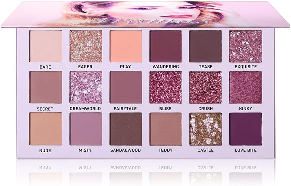 Ucanbe Nuevo 18 Colores Maquillaje Paleta de Sombra de Ojos Brillo Mate Pigmentado de Alta Durabilidad Rosa Maquillaje Sombra de Ojos Pallete Cosméticos