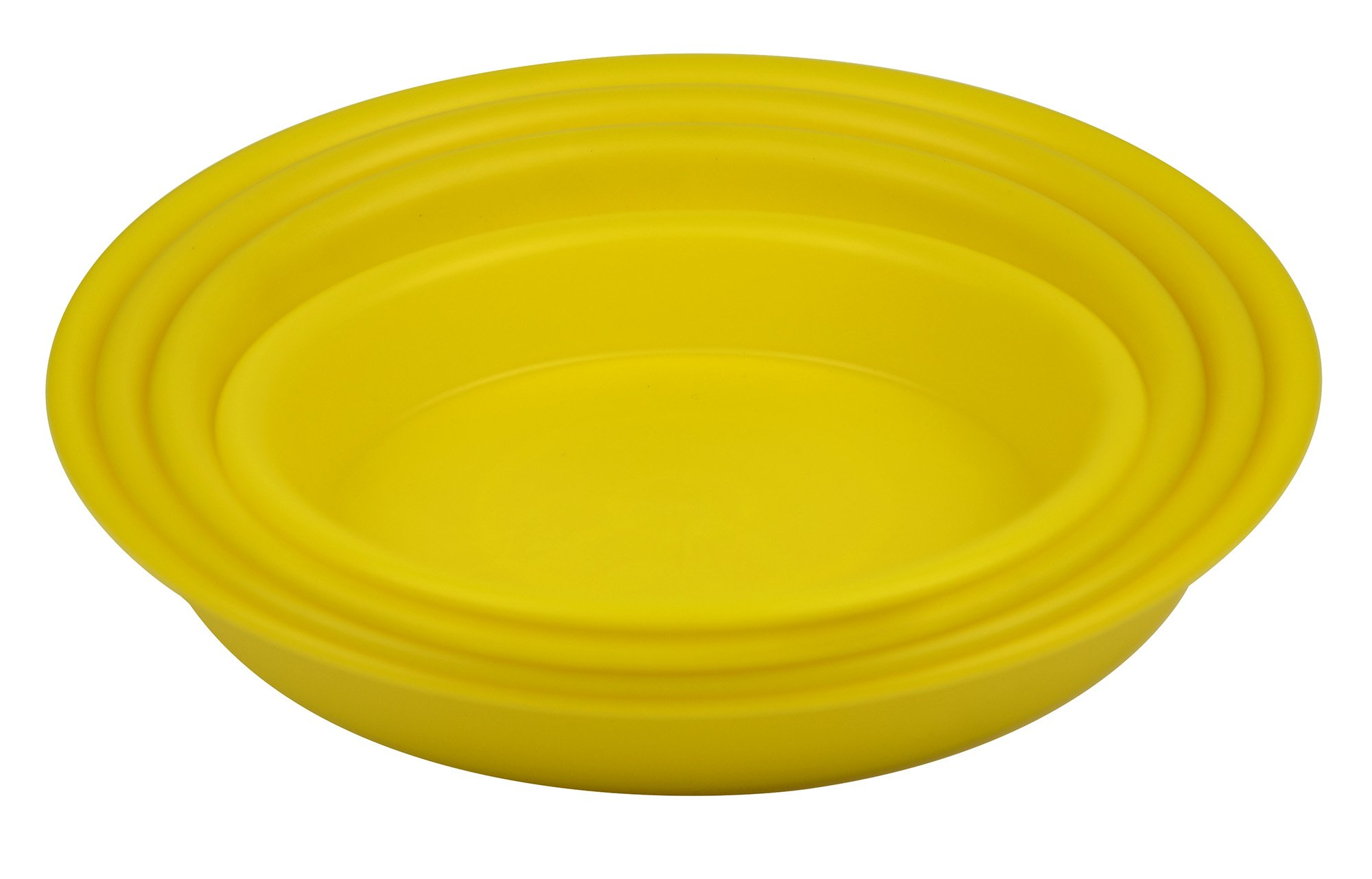 4.5'' Round Plant Saucer Planter Tray Pat Pallet for Flowerpot,Yellow,1200 Count
