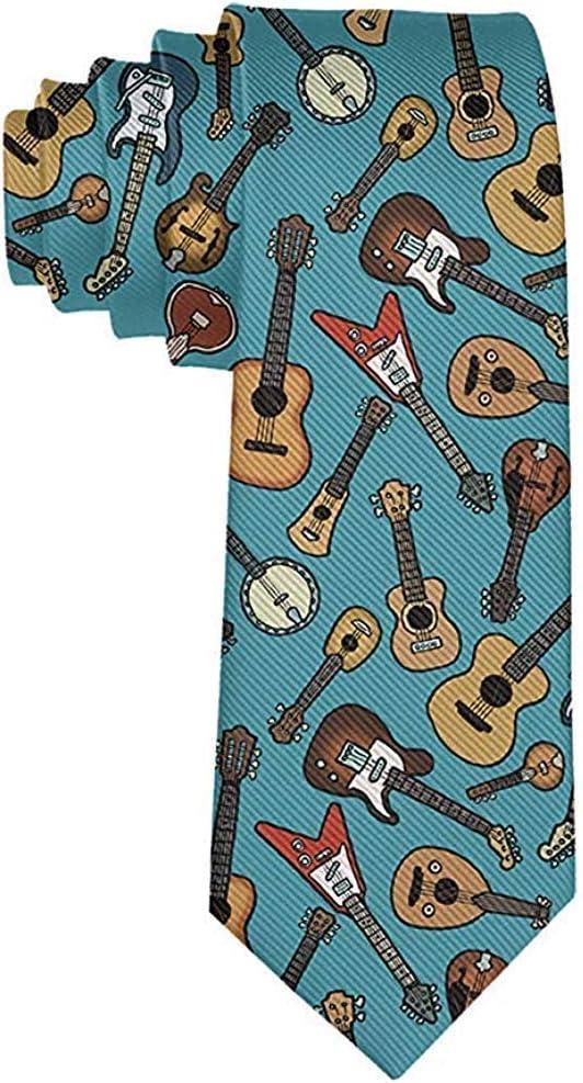Corbata de instrumentos de música de guitarra de moda para hombres ...
