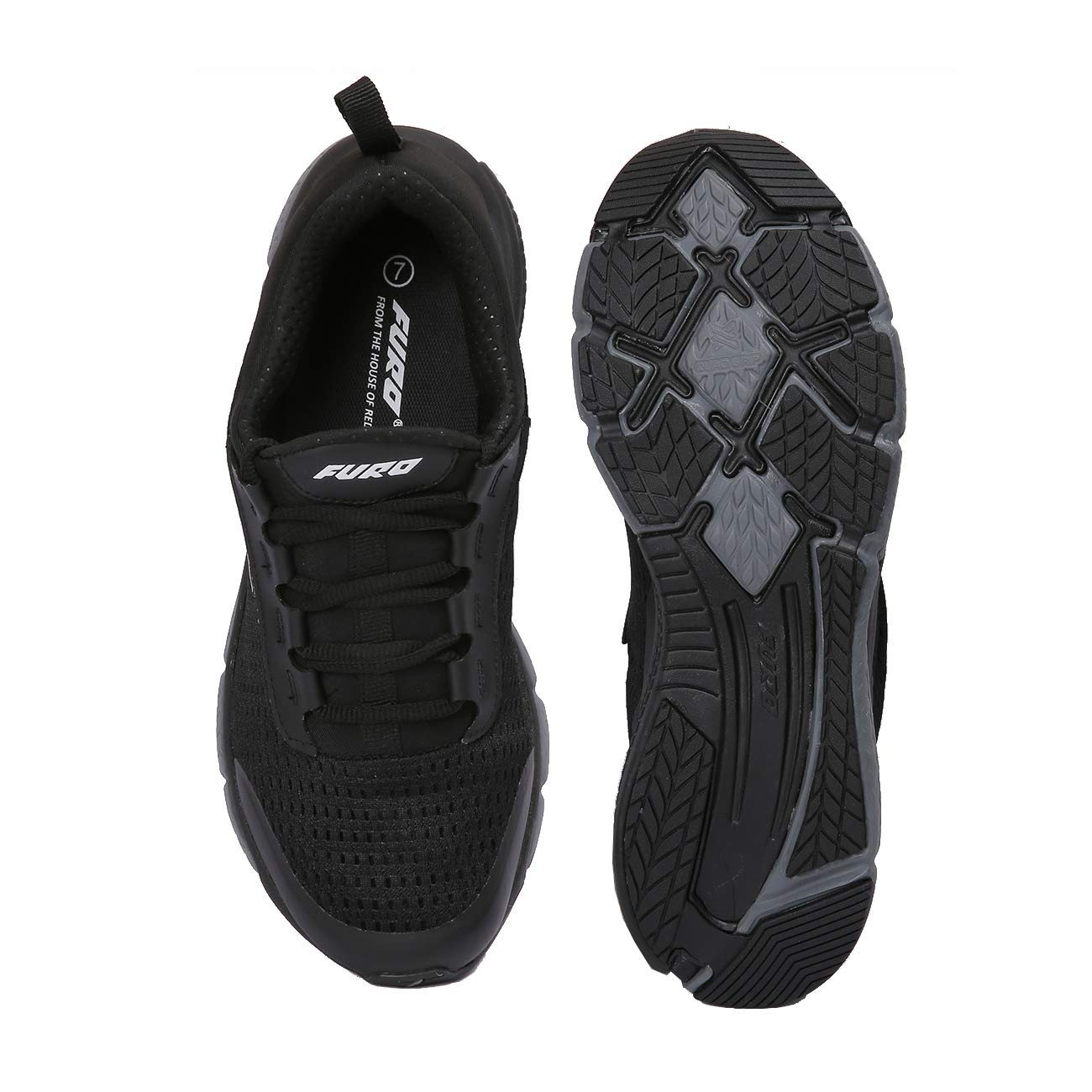 122d115b5a2 Furo (By Red Chief) Black Men s Running Shoe (R1018 825)  Buy Online at Low  Prices in India - Amazon.in