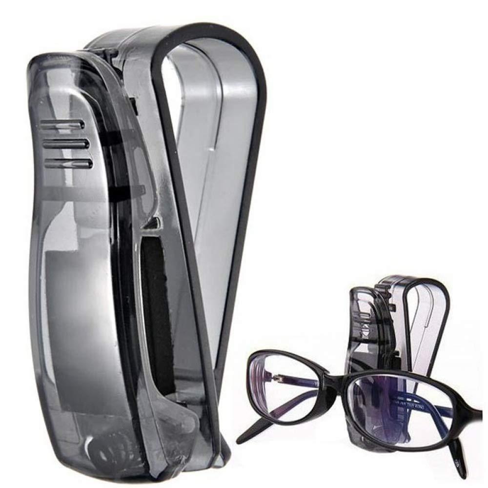 WBXHZYDGJ ABS Multi-Function car Fasteners car Sun Visor Sunglasses Glasses Frame Glasses Frame Ticket Holder car Supplies