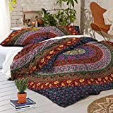 Indian Bohemian Mandala Duvet Cover Reversible Doona Throw Bedding Quilt set