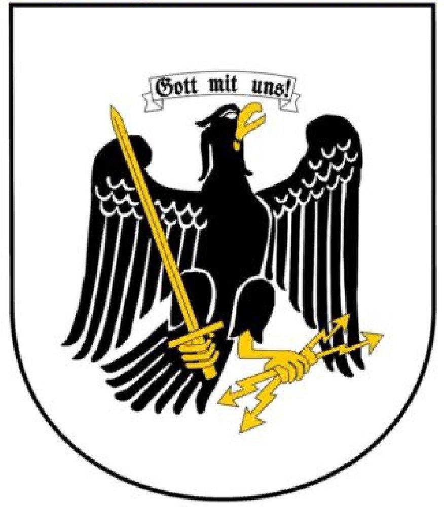 """'Autocollant pour voiture Preussen Aigle """"Dieu avec nous autocollant sticker pour voiture de l'Empire Allemand"""