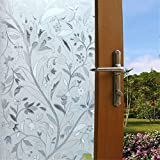 Viclover Premium Decorative No-Glue Static Privacy Window Film Sliding Glass Cling For Bathroom Bedroom Home And Office (No.YJ35X)