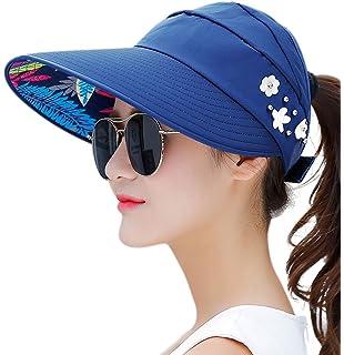 1d453af5720 HINDAWI Sun Hats for Women Wide Brim Sun Hat UV Protection Caps Floppy Beach  Packable Visor