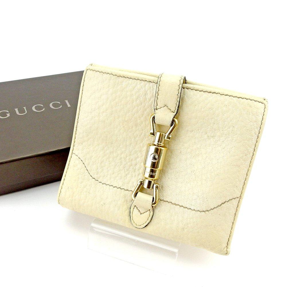 (グッチ) Gucci Wホック 財布 二つ折り ベージュ ゴールド ニュージャッキー レディース メンズ 可 中古 T5499   B078PG9XGS