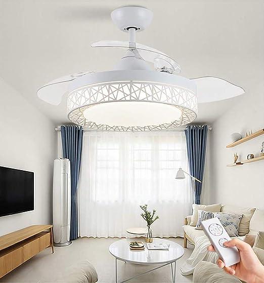 JDDSA Regulable LED Luz del Ventilador de Techo con Lámpara y ...