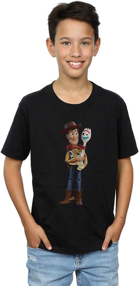 Disney Boys Toy Story 4 Forky Handmade Friend T-Shirt
