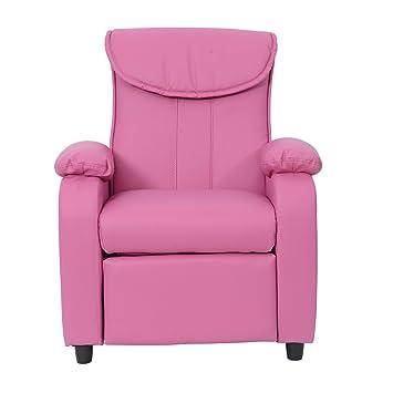 Kindersessel rosa  Homcom® Kindersessel Kindersofa Sofa Couch Funktionssessel ...