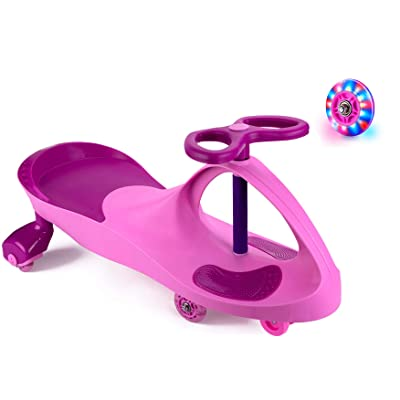 Bestlaixing Ride on Toys for Wiggle Car Boys Girls 3 Year Old and Up with LED Light Up Wheels (Pink): Toys & Games
