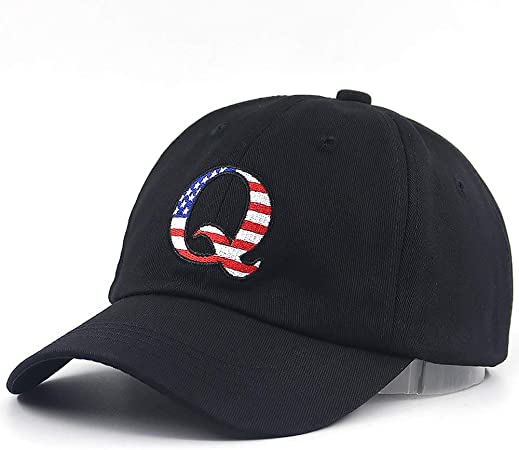 Custom American Flag Hat Cottage House Embroidery Design Cotton Strap Closure