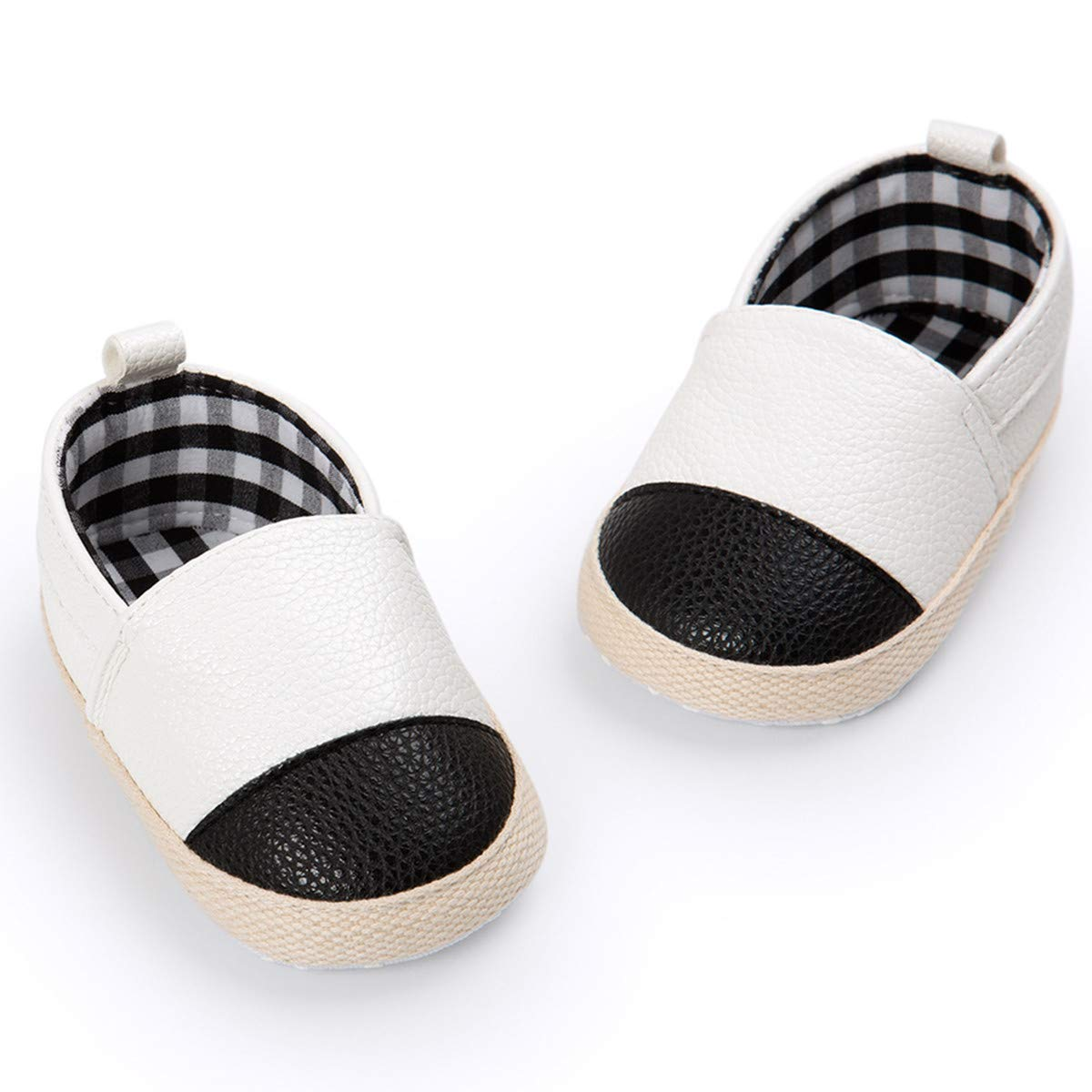 BENHERO Infant Baby Boys Girls Canvas Shoes Slip On Soft Sole Moccasins Toddler First Walker Sneaker Newborn Crib Shoes