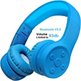 Kids Wireless Headphone, Yusonic Bluetooth Headphones Over-Ear headsets with Music Share Port and Built-in Microphone for Calling Boys (Dark Blue)