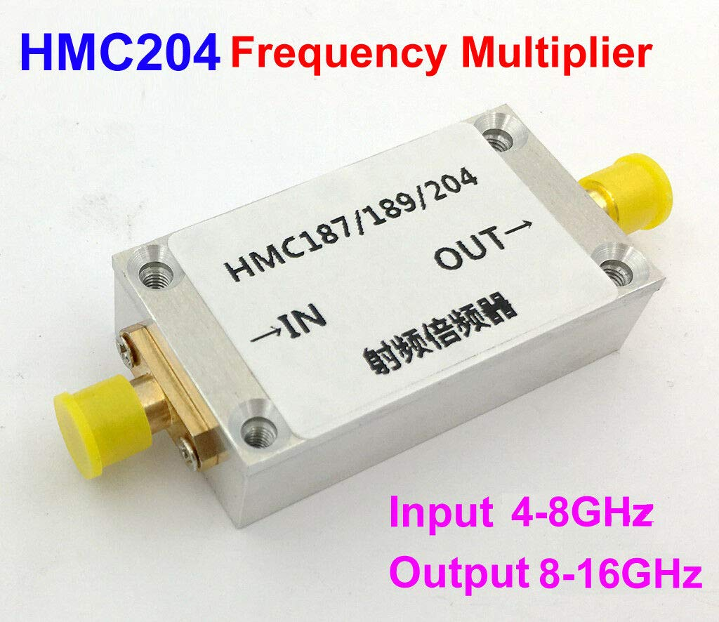 FidgetKute HMC204 Frequency Multiplier Input 4-8GHz Output 8-16GHz Frequency Doubler + case
