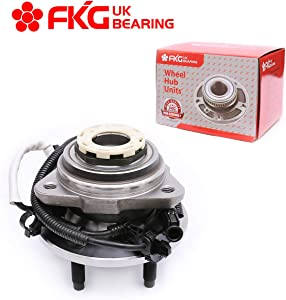 FKG 515027 (4WD Only) Front Wheel Bearing Hub Assembly fit for 1998-1999 Ford Ranger, 1998-1999 Mazda B4000, 2000 Ford Ranger Mazda B4000 (w/Pulse Vacuum Hub Locks & 4-Wheel ABS models), 5 Lugs W/ABS