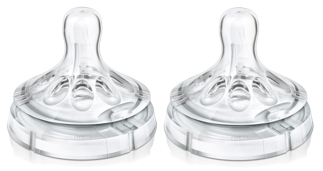 Philips Avent Variable Flow Natural Nipple, 2-Count by Philips AVENT