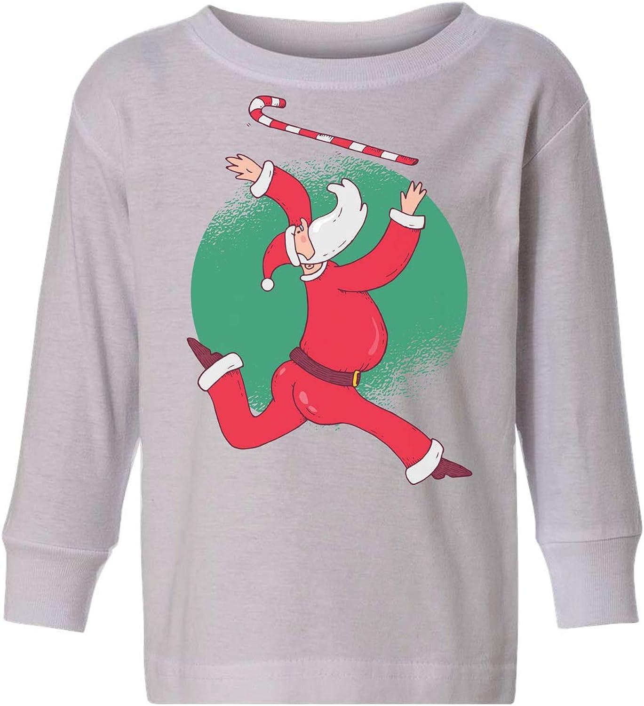 Awkward Styles Ugly Christmas Long Sleeve Shirt for Girls Boys Toddler Xmas Santa is Coming Shirt