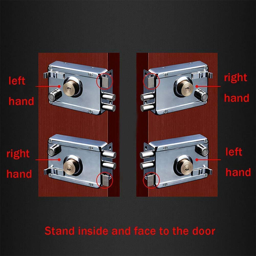 xiegons0 Puerta Cerradura Universal Acero Inoxidable Cuadrado Deadbolt Cerradura Resistente Borde Pestillo Cerradura Cruz Cerradura Seguridad Antirrobo Bloqueo para Exterior Puerta