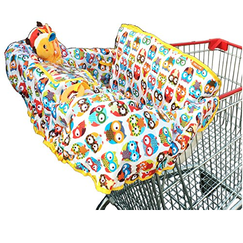 Crocnfrog 2-in-1 Cotton Shopping Cart Cover | High Chair Cover for Baby (Baby Travel Trolley compare prices)
