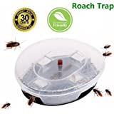 Elindio Roach Killer, Non-Toxic Cockroaches Trap Reusable & Physical Capture Cockroach Traps Eco-Friendly and Safe for Kids & Pets in Kitchen Storeroom/Warehouse/Cloth-room