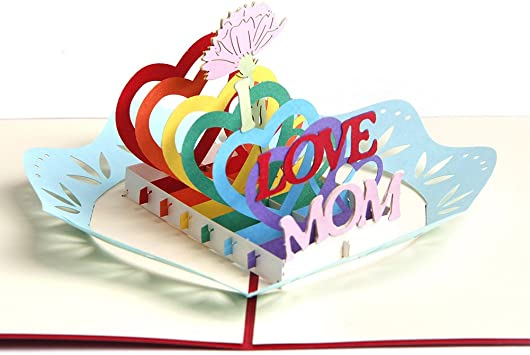 Fabulous Paper Spiritz Pop Up Mothers Day Greeting Cards Thank You Card Funny Birthday Cards Online Fluifree Goldxyz
