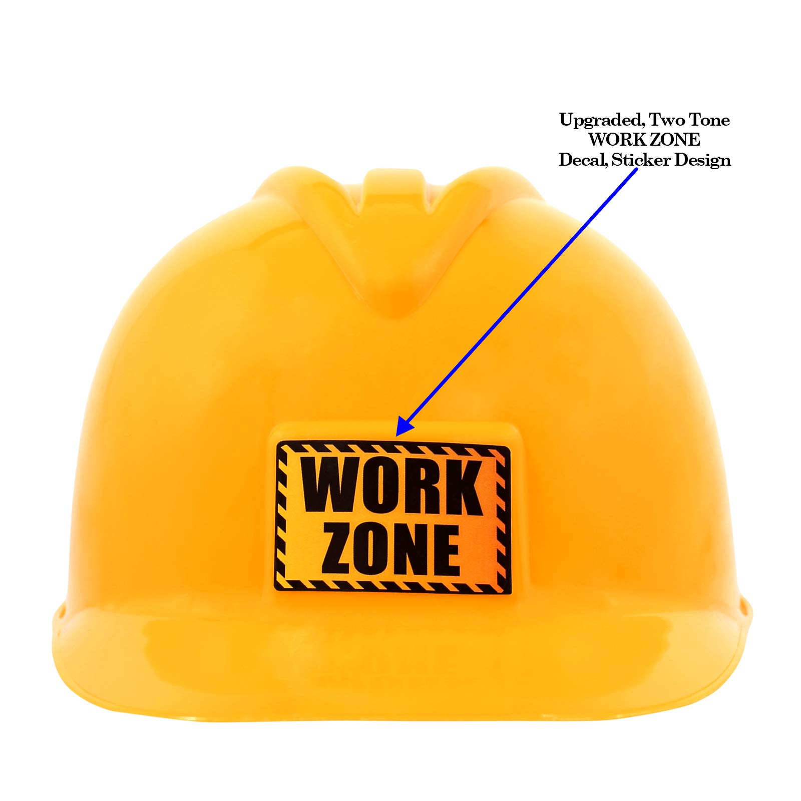 Anapoliz Kids Construction Hat | Yellow, Plastic Childrens Hard Hat | Toy Construction Worker Helmet for Kids | Dress Up, Costume, Child Party Hat | Safety, Engineer Hard Plastic Cap