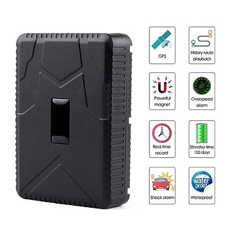 HAJZF Rastreador GPS para Vehículos, Instalación Magnética A ...