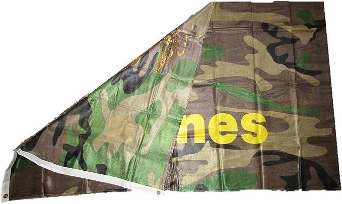 3x5 EGA Marines Marine Corps Woodland Camo Knitted Poly Flag 3/'x5/' Grommets