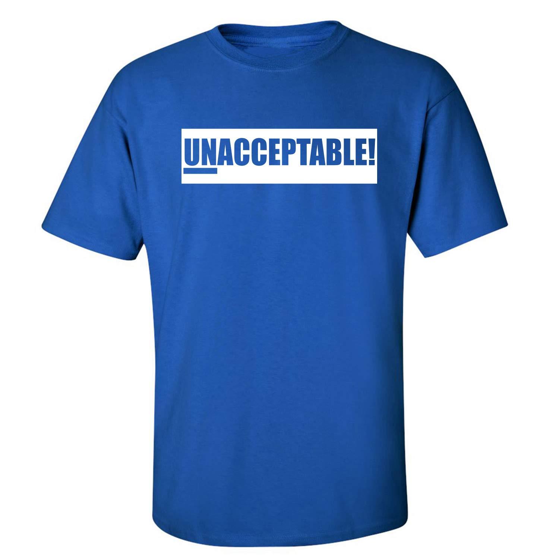 White ZeroGravitee Unacceptable Adult Short Sleeve T-Shirt