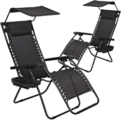 BestMassage Canopy Recliner - Set Of 2 - 3 Colors
