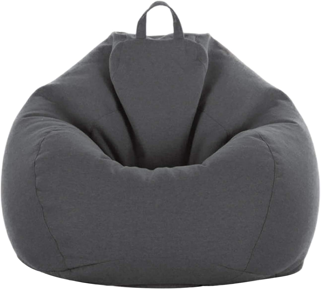 Soft Bean Bags Sofa Chairs Covers for Adults, No Filler, Filler by Yourself, Teens and Kids Indoor Outdoor (Dark Gray, 31.5